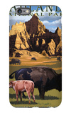 Badlands National Park, South Dakota - Bison Scene iPhone 6s Plus Case by  Lantern Press