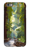 Big Sur, California - Pathway and Hikers iPhone 6s Plus Case by  Lantern Press