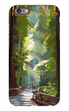 Big Sur, California - Pathway and Hikers iPhone 6 Plus Case by  Lantern Press
