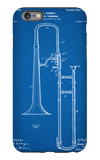 Slide Trombone Instrument Patent iPhone 6 Plus Case