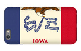 Iowa State Flag iPhone 6 Plus Case by  Lantern Press