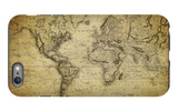 Vintage Map of the World, 1814 iPhone 6 Plus Case by  javarman