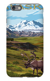 Denali National Park, Alaska - Caribou and Stoney Overlook iPhone 6 Plus Case by  Lantern Press