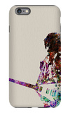 Hendrix With Guitar Watercolor iPhone 6 Plus Case by  NaxArt