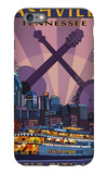 Nashville, Tennessee - Skyline at Night iPhone 6s Plus Case by  Lantern Press