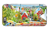 The Famous Summer Park Guell Over Bright Blue Sky In Barcelona, Spain iPhone 6 Plus Case by  Vladitto