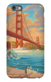 Golden Gate Bridge Sunset - 75th Anniversary - San Francisco, CA iPhone 6 Plus Case by  Lantern Press