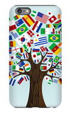 Flags Of The World Tree iPhone 6 Plus Case by  cienpies