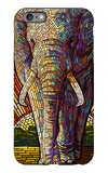 Elephant - Paper Mosaic iPhone 6 Plus Case by  Lantern Press