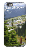 Glacier National Park - Going to the Sun Road and Hikers iPhone 6 Plus Case by  Lantern Press