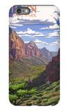 Zion National Park - Zion Canyon View iPhone 6 Plus Case by  Lantern Press