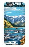 Avalanche Lake - Glacier National Park, Montana iPhone 6s Plus Case by  Lantern Press