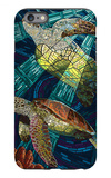 Sea Turtle - Paper Mosaic iPhone 6s Plus Case by  Lantern Press