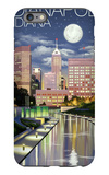 Indianapolis, Indiana - Indianapolis at Night iPhone 6 Plus Case by  Lantern Press