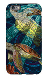 Sea Turtle - Paper Mosaic iPhone 6 Plus Case by  Lantern Press
