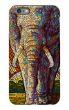 Elephant - Paper Mosaic iPhone 6s Plus Case by  Lantern Press