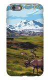 Denali National Park, Alaska - Caribou and Stoney Overlook iPhone 6s Plus Case by  Lantern Press
