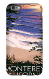 Monterey, California - Sunset and Beach iPhone 6 Plus Case by  Lantern Press