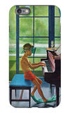 """Poolside Piano Practice,"" June 11, 1960 iPhone 6 Plus Case by George Hughes"