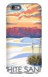 White Sands National Monument, New Mexico - Sunset Scene iPhone 6 Plus Case by  Lantern Press