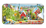 The Famous Summer Park Guell Over Bright Blue Sky In Barcelona, Spain iPhone 6s Plus Case by  Vladitto