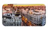 Panoramic View Of Gran Via, Madrid, Spain iPhone 6 Plus Case by  kasto