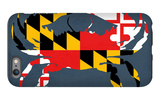 Maryland - Crab Flag - No Text iPhone 6s Plus Case by  Lantern Press