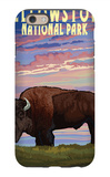 Yellowstone National Park - Bison and Sunset iPhone 6 Case by  Lantern Press