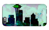 Seattle City Skyline iPhone 6 Plus Case by  NaxArt