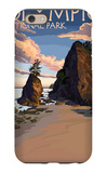Kalaloch Beach - Olympic National Park, Washington iPhone 6 Case by  Lantern Press