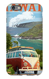 VW Van - Hawaii Volcanoes National Park iPhone 6s Plus Case by  Lantern Press
