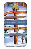 New England - Ski Areas Sign Destinations iPhone 6 Plus Case by  Lantern Press