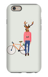 Fashionable Hipster Deer iPhone 6 Case by  run4it