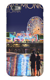 Santa Monica, California - Pier at Night iPhone 6 Plus Case by  Lantern Press