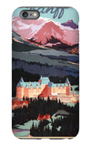 Banff, Alberta, Canada - Overview of the Banff Springs Hotel Poster iPhone 6s Plus Case by  Lantern Press