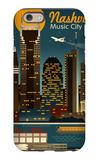 Retro Skyline - Nashville, Tennessee iPhone 6 Case by  Lantern Press
