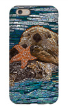 Sea Otter - Paper Mosaic iPhone 6 Case by  Lantern Press