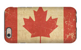 Canadian Aged Flat Flag iPhone 6 Case by  nazlisart