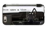"""Words """"Once Upon A Time"""" Written With Old Typewriter iPhone 6 Case by  foodbytes"""