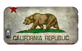 California State Flag With Distressed Treatment iPhone 6 Plus Case by Bruce stanfield