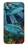 Black Tip Reef Shark - Paper Mosaic iPhone 6 Plus Case by  Lantern Press
