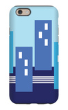 Blue Buildings iPhone 6s Case by  Avalisa