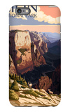 Zion National Park - Zion Canyon Sunset iPhone 6 Plus Case by  Lantern Press