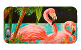 Hot Tropical Flamingo II iPhone 6 Plus Case by Linda Baliko