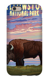 Yellowstone National Park - Bison and Sunset iPhone 6s Case by  Lantern Press