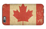 Canadian Aged Flat Flag iPhone 6 Plus Case by  nazlisart