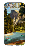 Merced River Rafting - Yosemite National Park, California iPhone 6 Case by  Lantern Press