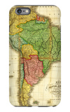 South America - Panoramic Map iPhone 6s Plus Case por Lantern Press