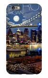 Detroit, Michigan - Skyline at Night iPhone 6s Plus Case by  Lantern Press