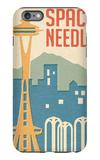 Seattle, Washington - Space Needle Woodblock iPhone 6 Plus Case by  Lantern Press